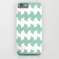 jaggered and staggered in grayed jade iPhone 6 Slim Case