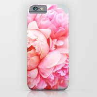 iPhone Cases featuring Peonies Forever by Ez Pudewa