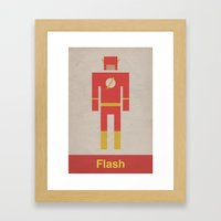 Retro Flash Framed Art Print