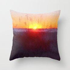 Florida Beach Scene #1 Throw Pillow