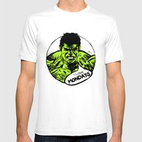 Hulk Loves Monday Mens Fitted Tee White SMALL