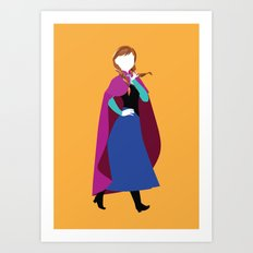 Anna From Frozen - Princ… Art Print