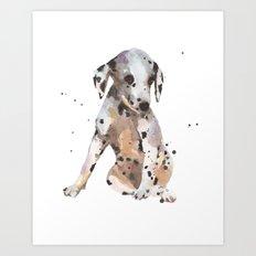 dalmatian, dalmatian puppy, dalmatian painting, cute puppy,  Art Print