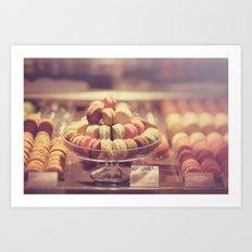 Macaron Shop  Art Print
