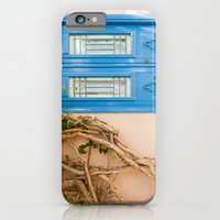 iPhone & iPod Case featuring Blue Door in Chania, Crete by Eyeshoot Photography