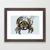 BEWARE :crabs in underwear  Framed Art Print