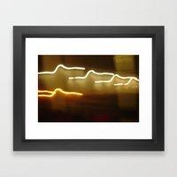 all of the lights... Framed Art Print