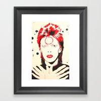 GLAM ROCKER Framed Art Print
