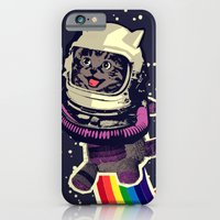 iPhone & iPod Case featuring space cat by Jimi Grey