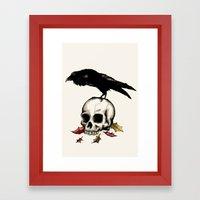 Raven Skull Poe Gothic C… Framed Art Print