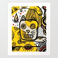 Cat Creole Art Print
