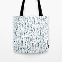 Crowd Pattern Tote Bag