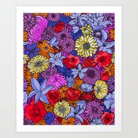 Flower Frenzy Art Print