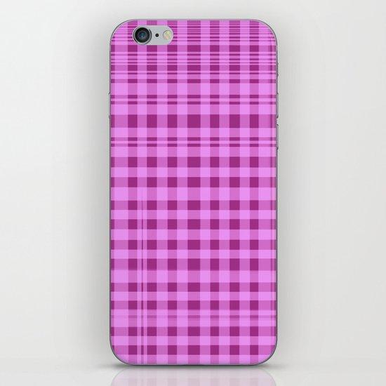 Purple Checkers. iPhone & iPod Skin