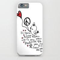 Love & Peace Bird iPhone 6 Slim Case