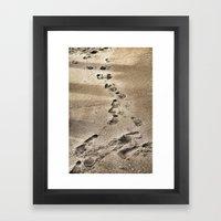 Footprints In The Sand Framed Art Print