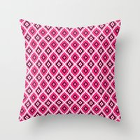 Morrocan Manor in Pink Throw Pillow