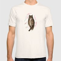 Spring Owl Mens Fitted Tee Natural SMALL