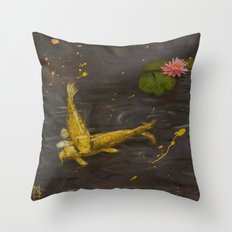 Peaceful Koi Throw Pillow