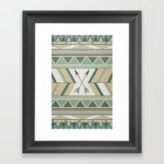 Aztec Pattern Arrows  Framed Art Print