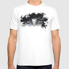 Triforce Stare SMALL White Mens Fitted Tee