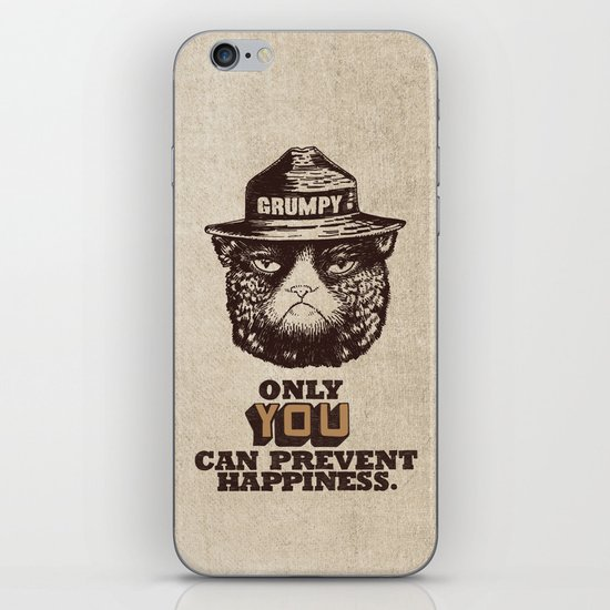 Grumpy PSA iPhone & iPod Skin