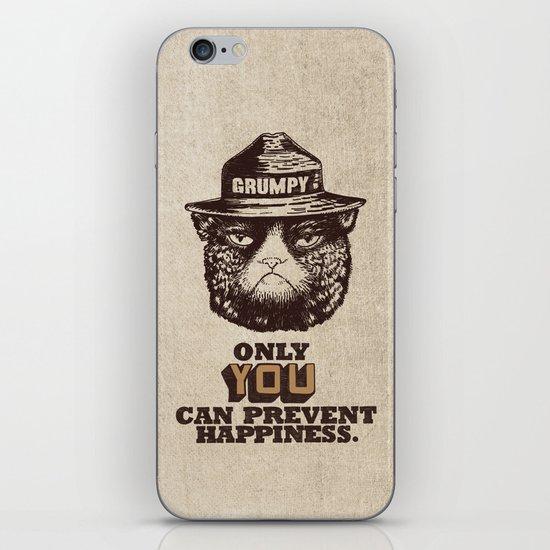Grumpy PSA iPhone & iPod Skin