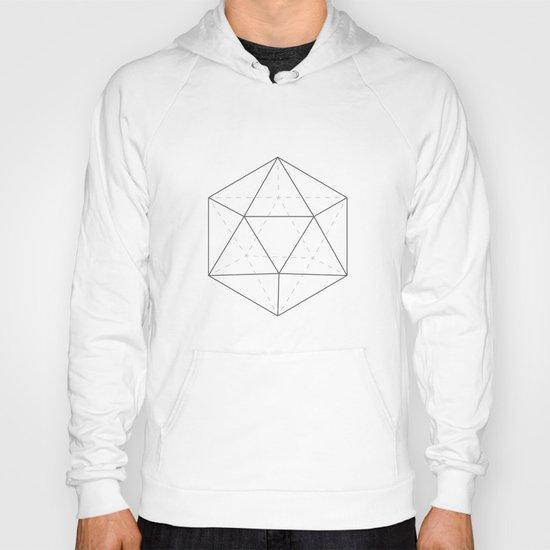 Black & white Icosahedron Hoody