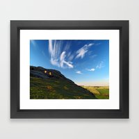 At Almscliff Crag Framed Art Print