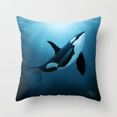 The Dreamer  ~ Orca ~ Killer Whale Throw Pillow
