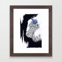 Space Cow Framed Art Print