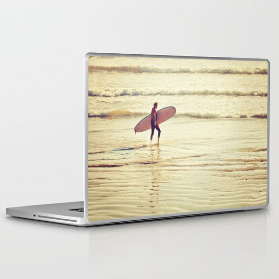 Golden Surf Laptop & iPad Skin