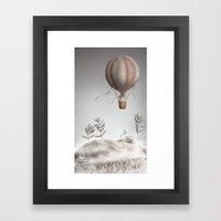 Morning Balloon Framed Art Print