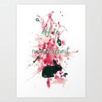 Off To Wonderland Art Print