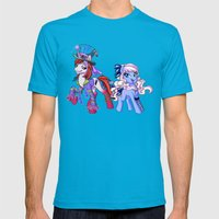 Mad T Ponies 'Alice and Tarrant' Mens Fitted Tee Teal SMALL