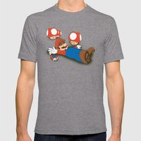 Tragic Ending-red Mens Fitted Tee Tri-Grey SMALL
