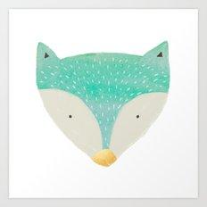 Emerald Fox With Gold No… Art Print
