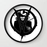 V for Vendetta3 Wall Clock