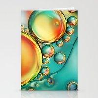 Oil and Water Wave Stationery Cards