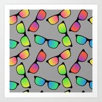 Sunglasses Pattern Art Print