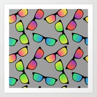 Sunglasses Pattern Art Print