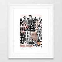 Midnight in Amsterdam  Framed Art Print