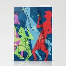 Abstract Jazz Stationery Cards