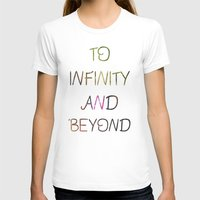 to infinity and beyond Womens Fitted Tee White SMALL