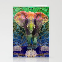 Wandering Elephant Stationery Cards