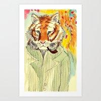 Tiger Man Art Print