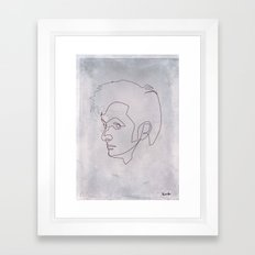 One Line Doctor Who: David Tennant Framed Art Print