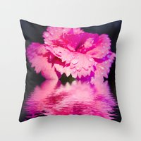 Floral Digital Art Throw Pillow