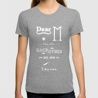 Dear M. Womens Fitted Tee Tri-Grey SMALL