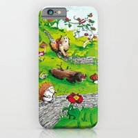 iPhone & iPod Case featuring Animals wood by Lorène Russo illustration